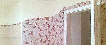 Wandgestaltung durch Mosaike